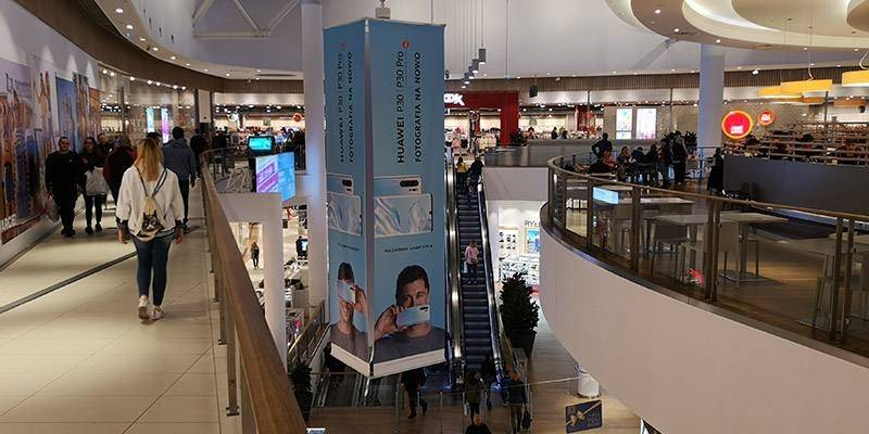 2 galerie Reklama w galeriach handlowych